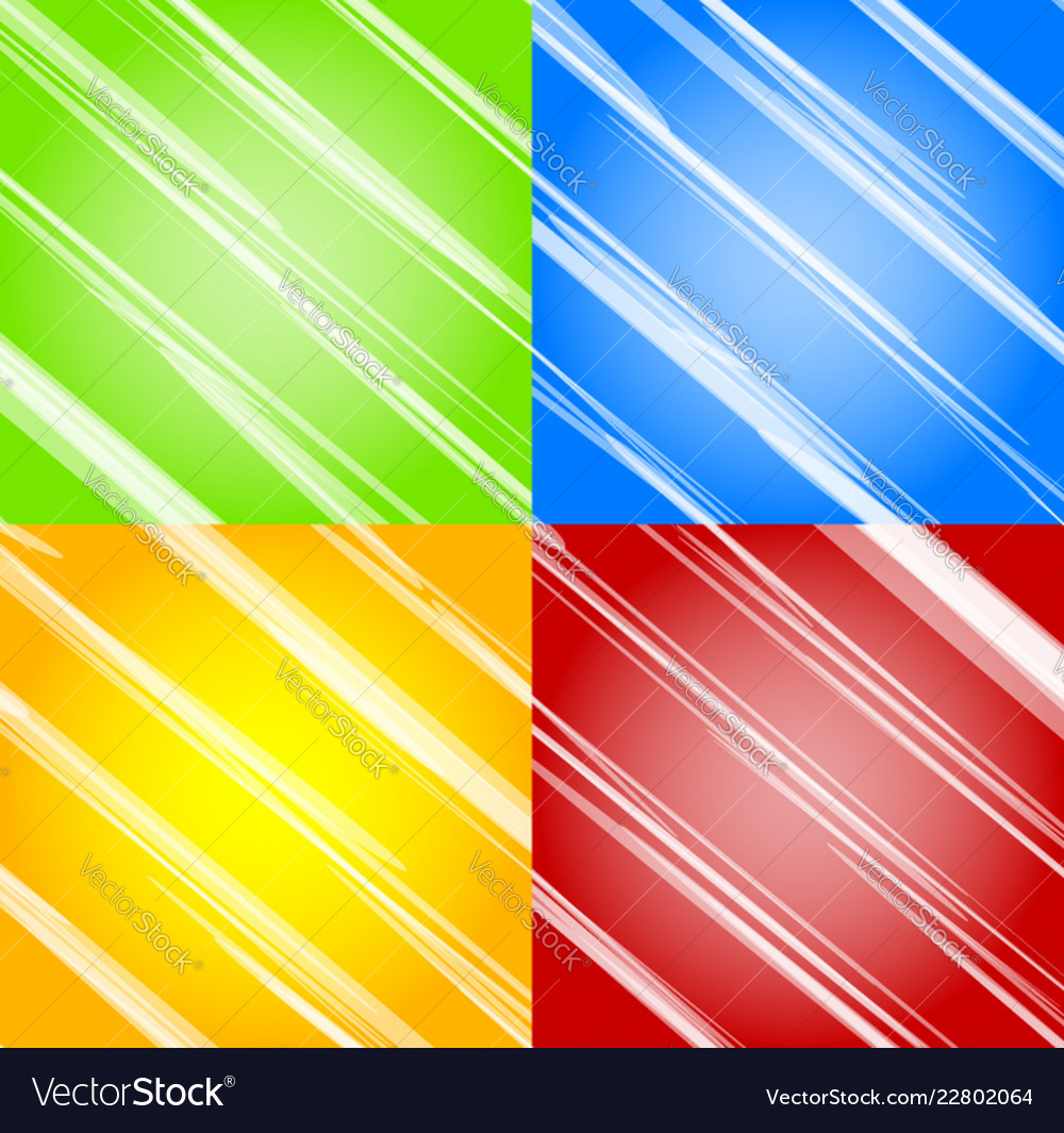 Abstract background set in four colors green blue
