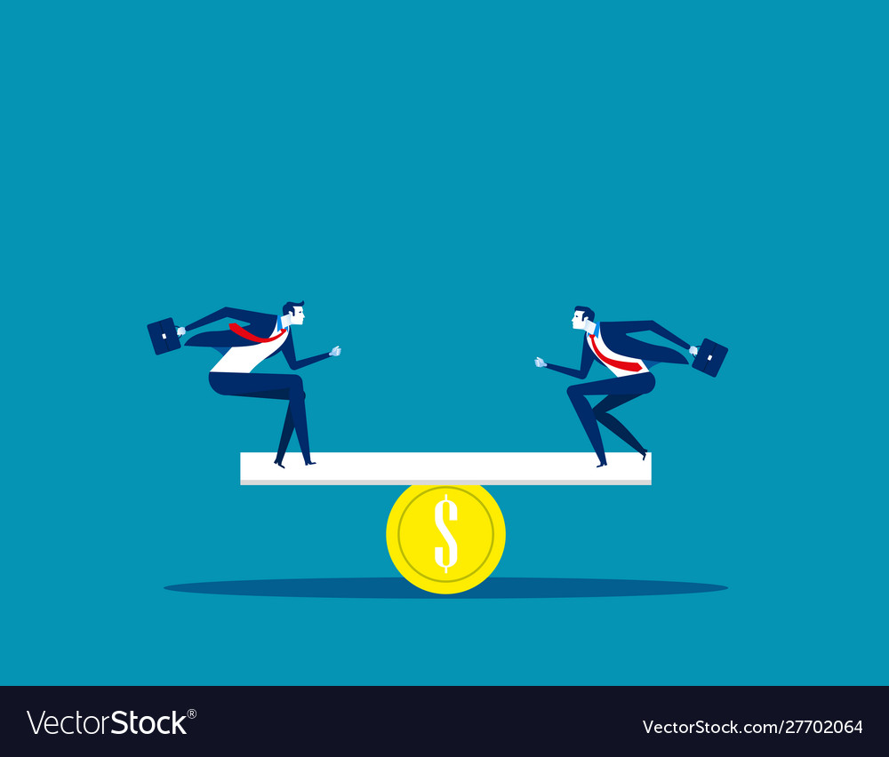 Business and money balance concept business