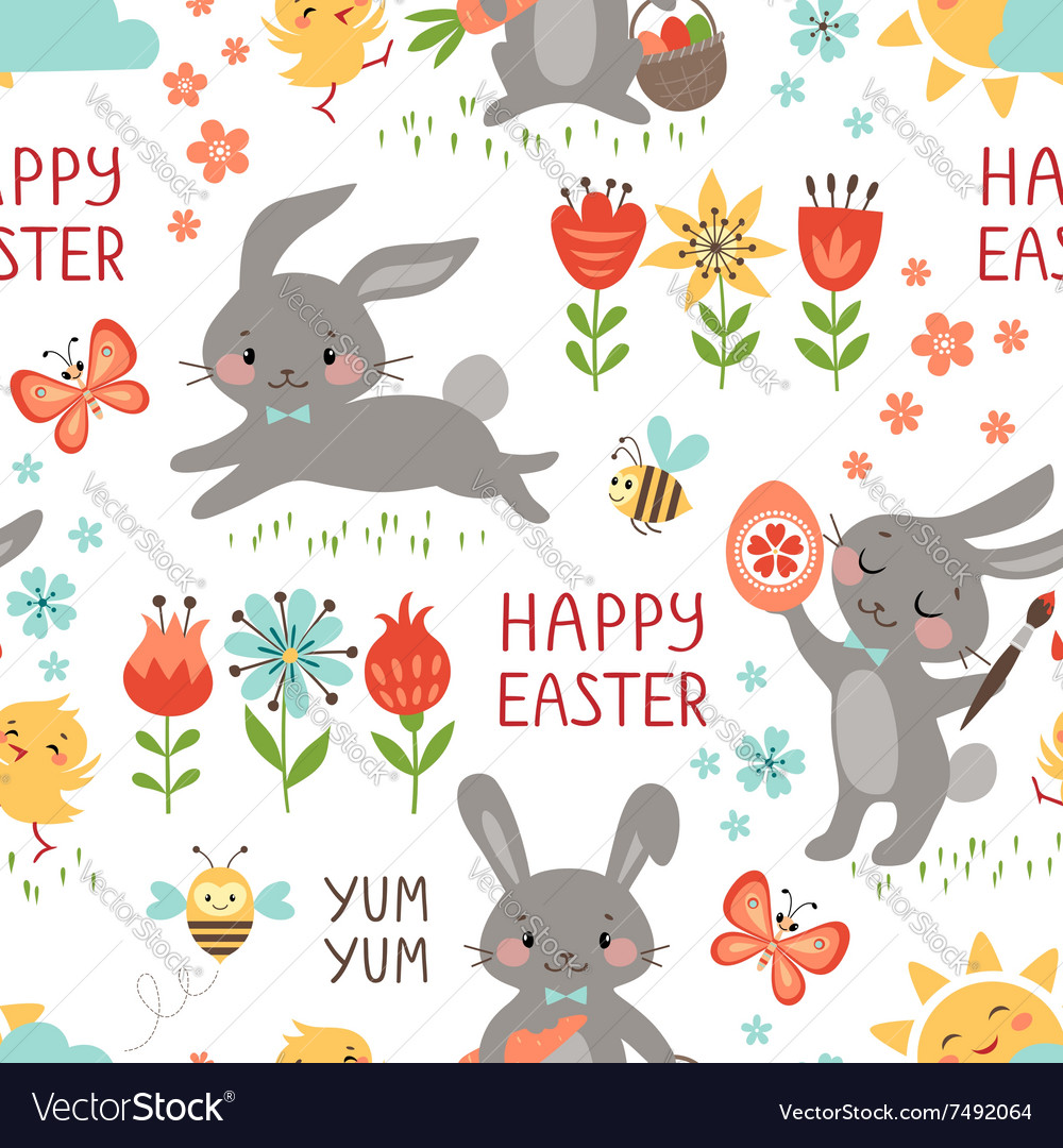 Easter rabbits pattern