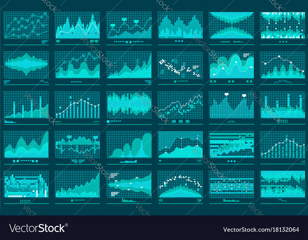 Financial line graphs business banner
