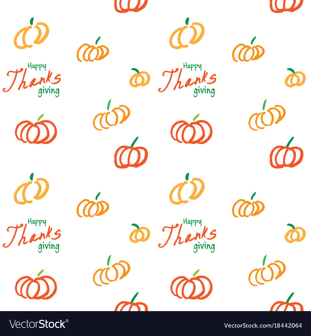 Thanksgiving ink seamless background