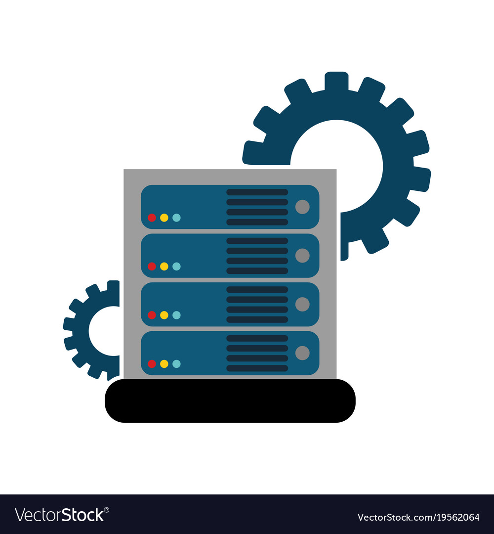 Web hosting design Royalty Free Vector Image - VectorStock