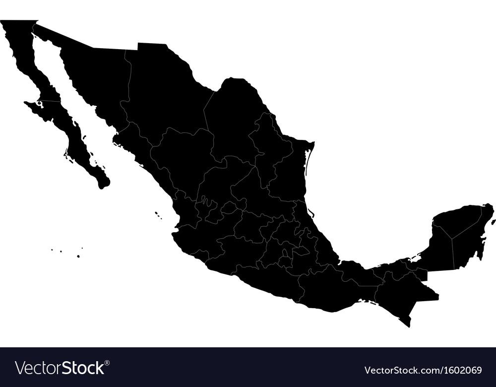 Black Mexico map