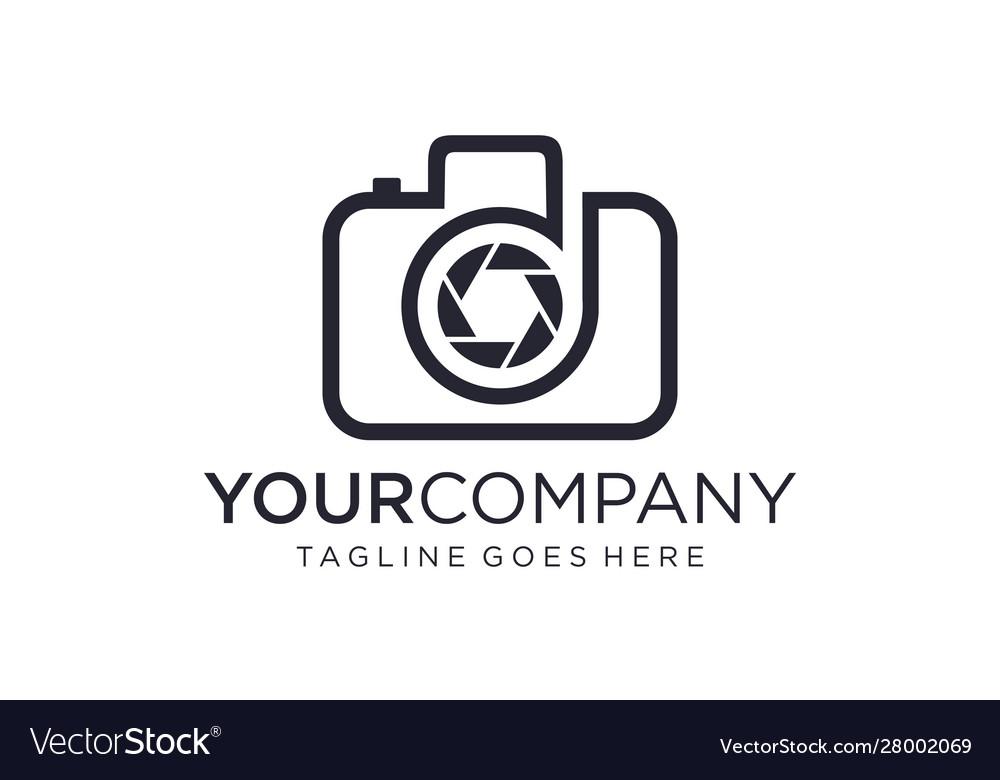 Creative Camera For Photography Logo Ideas Vector Image