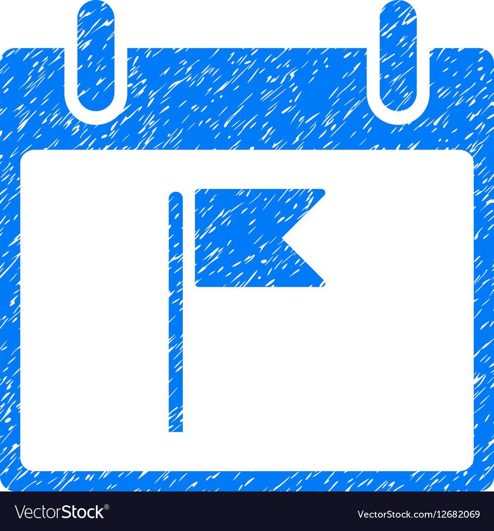 Flag Calendar Day Grainy Texture Icon