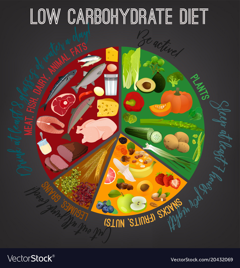 Low Carbohydrate Diet Poster Royalty Free Vector Image
