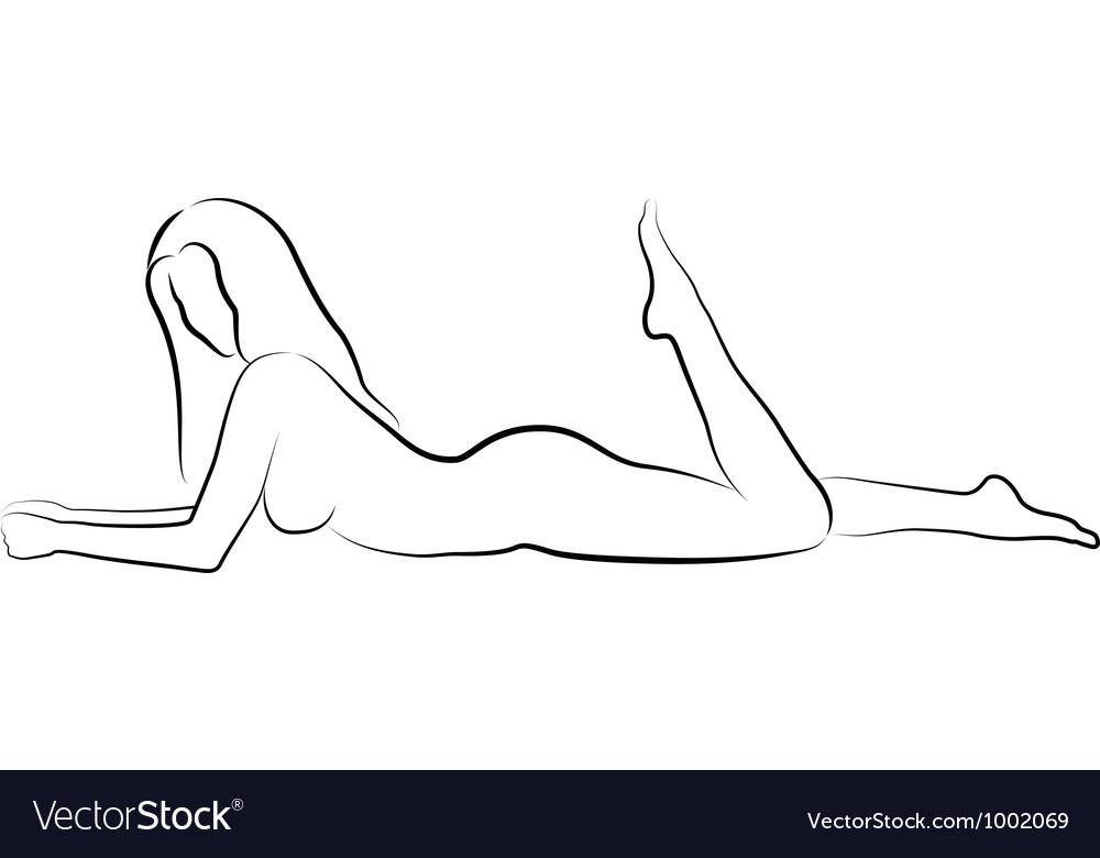 Nude woman vector image