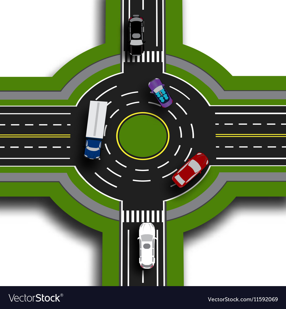 Road infographics Top view 3d perspective Road vector image