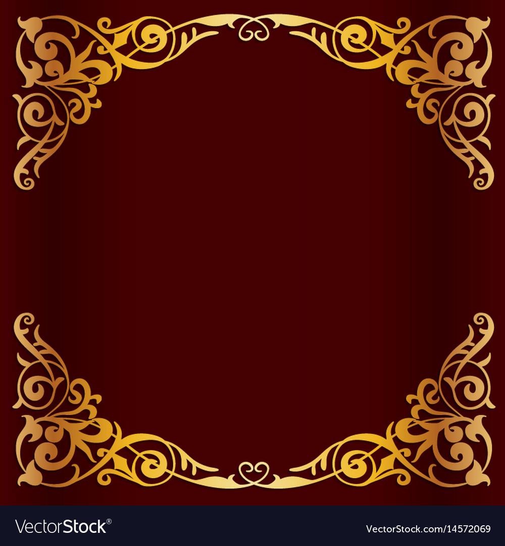Royal golden frame for design Royalty Free Vector Image