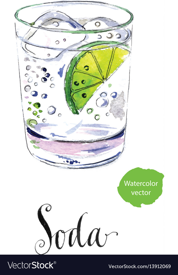 Citrus Segment And Ice Cubes Vector Image, Glass Ice Cubes Vector