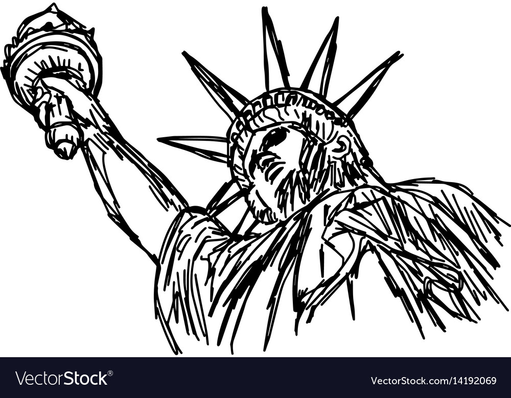 Statue of liberty - sketch hand