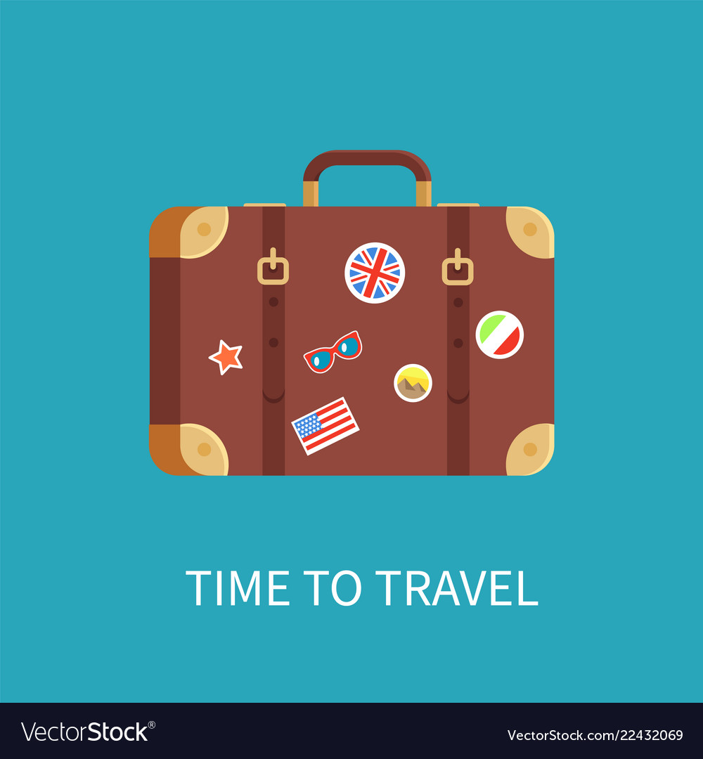 Time to travel banner luggage
