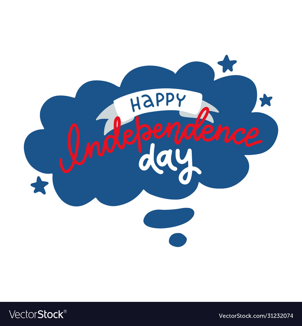 Happy independence day beautiful greeting card