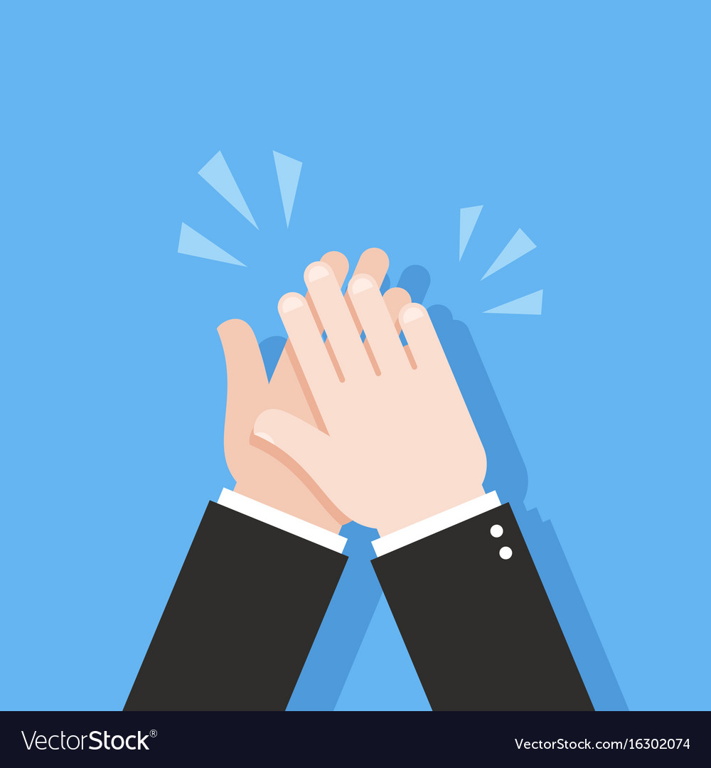 human hands clapping applause clap royalty free vector image