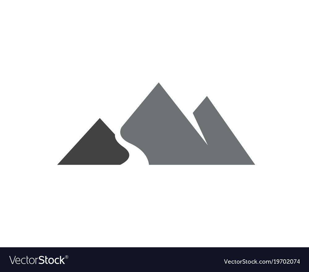 mountain logo template royalty free vector image