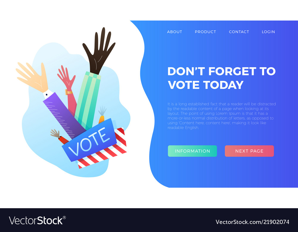 Set of hand draw hands voting concept