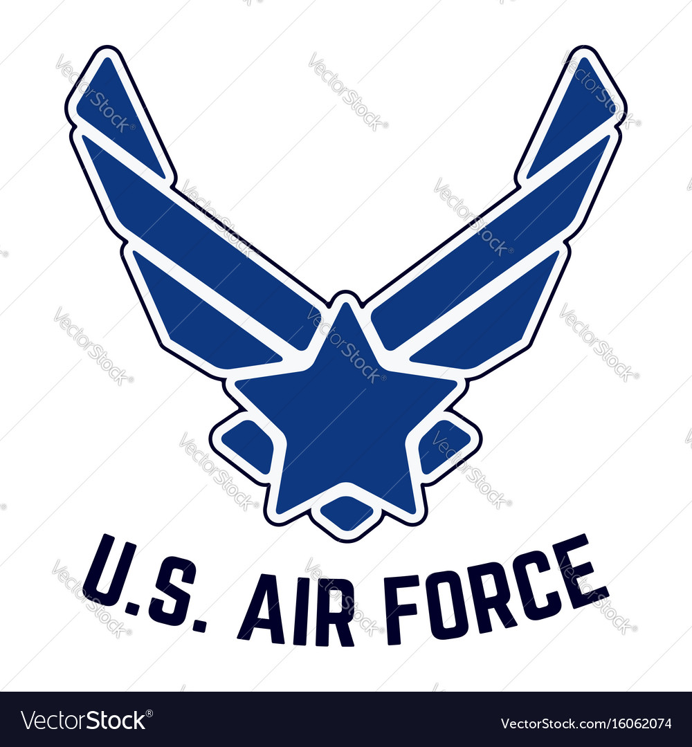 a815f6bbea6 Us air force vintage t-shirt stamp Royalty Free Vector Image