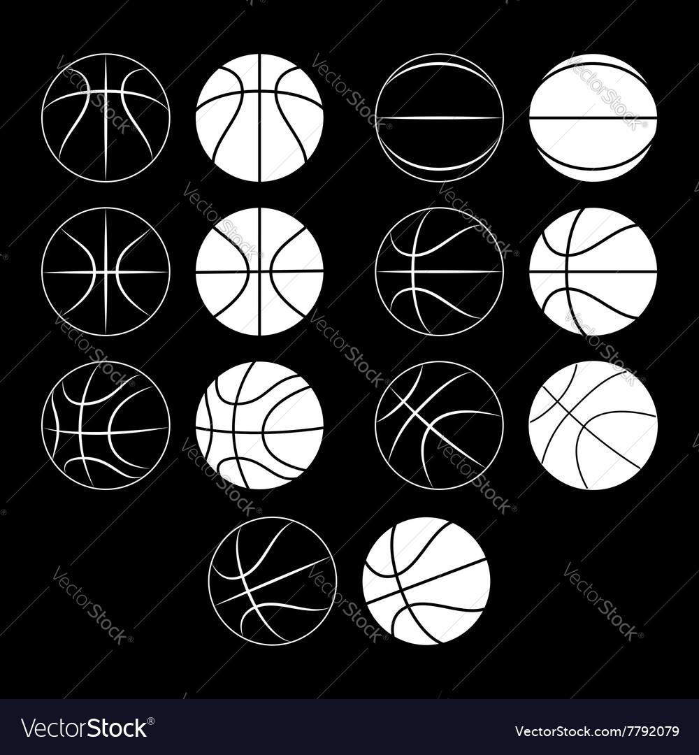 Basketball ball silhouette
