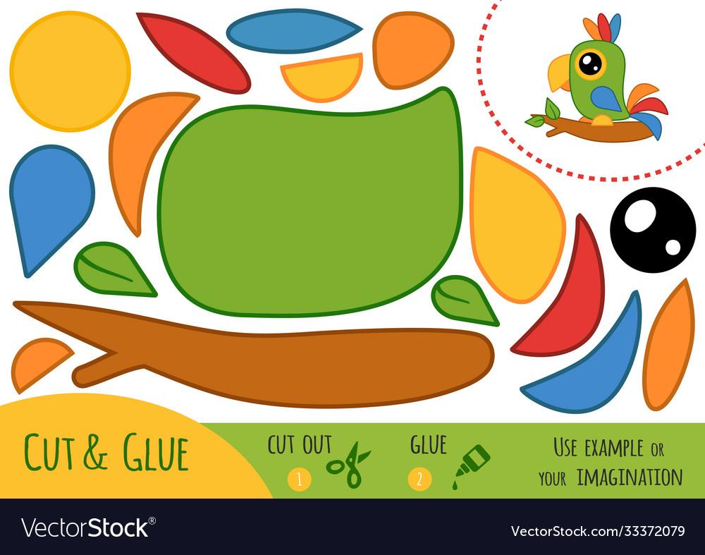 Education paper game for children parrot