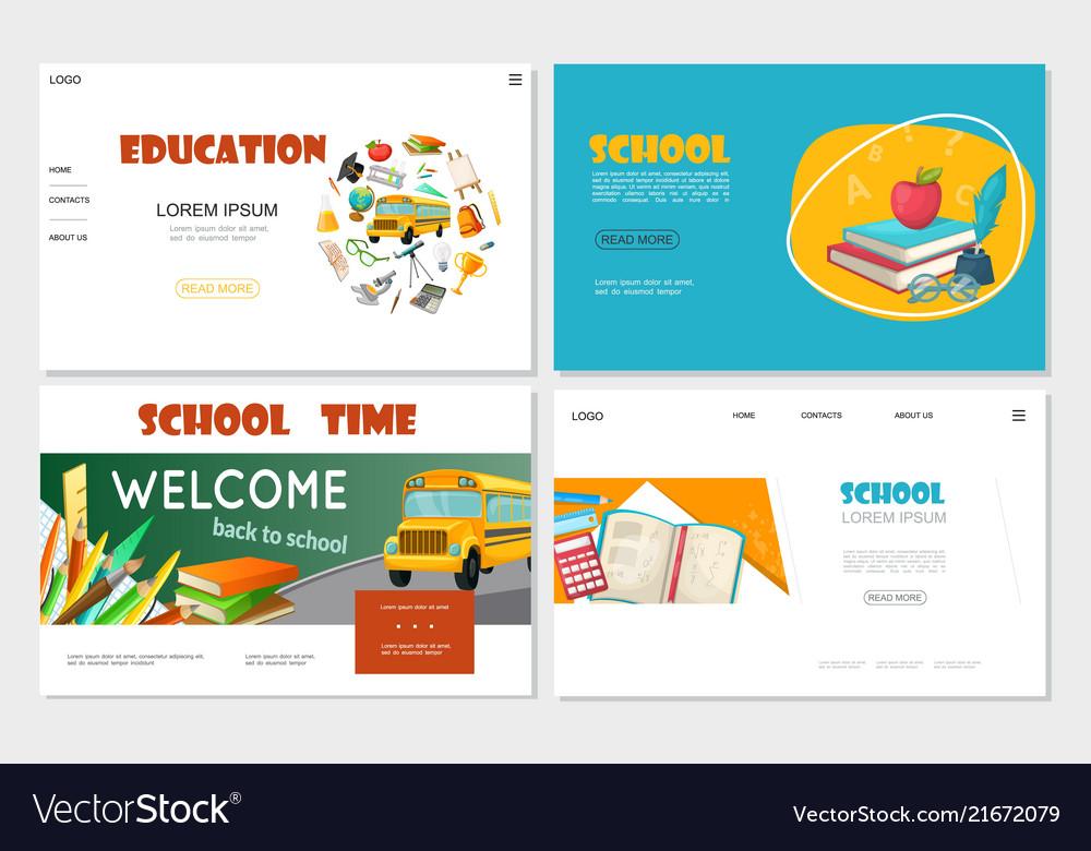 Flat education websites set