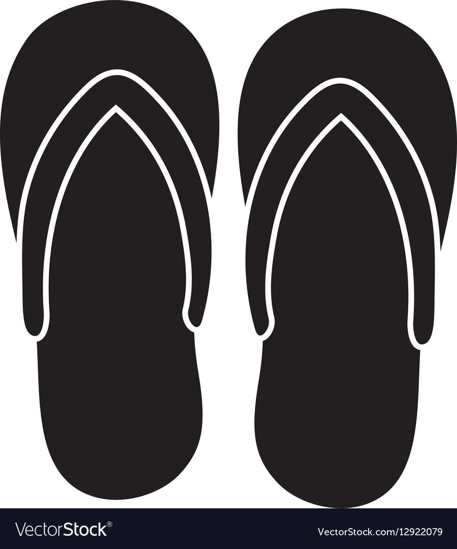 a684275a983a Flip flops sandals Royalty Free Vector Image - VectorStock