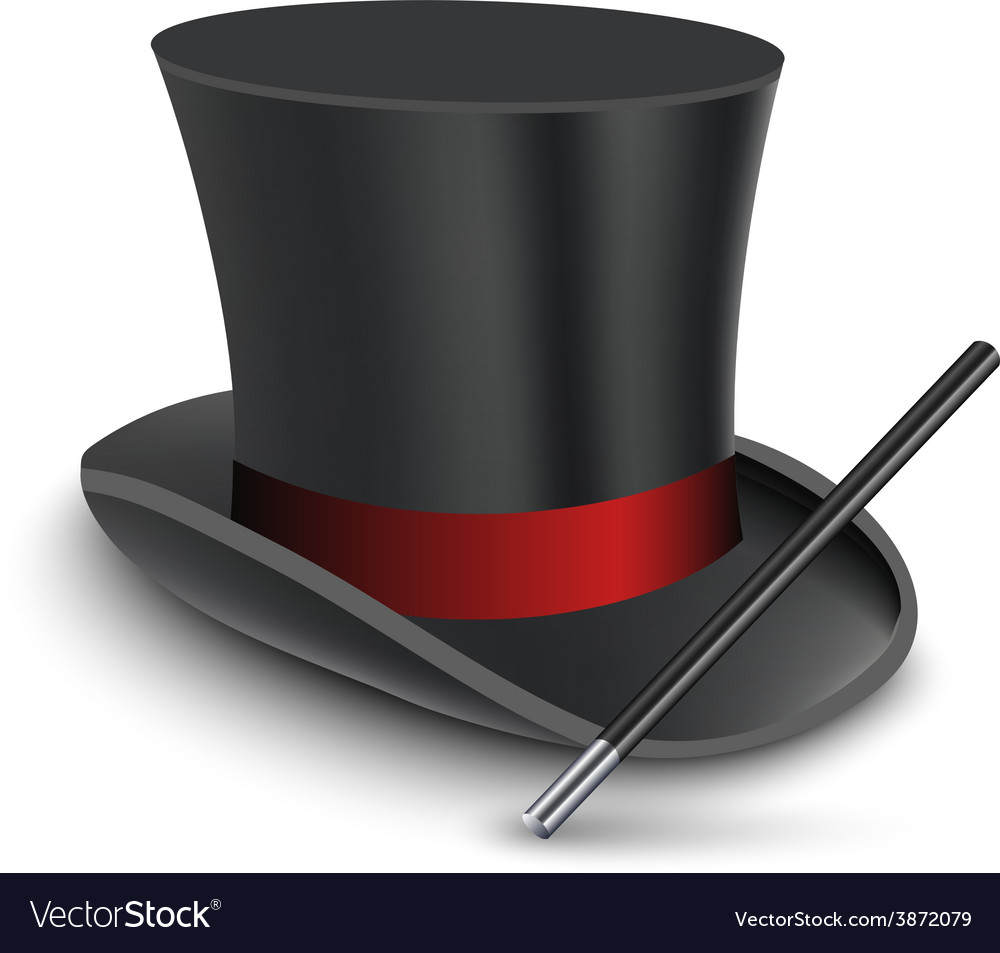 Magician Top Hat with stick