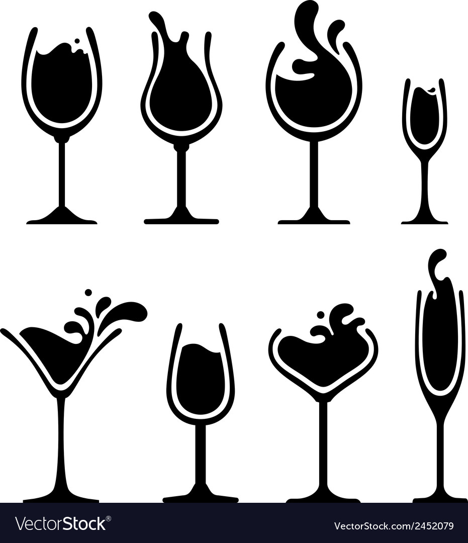 silhouette of wine glass with splash royalty free vector martini glass clip art black and white martini glass clipart black& white