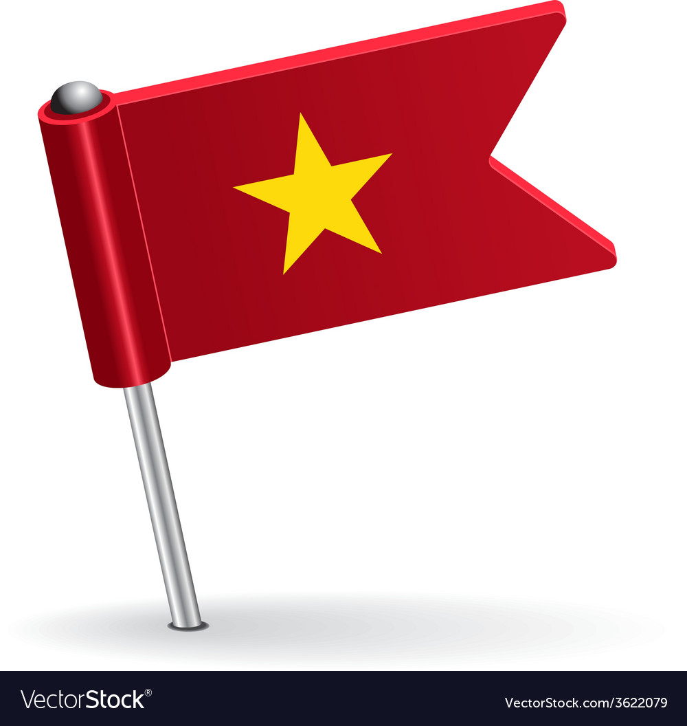 Vietnamese pin icon flag