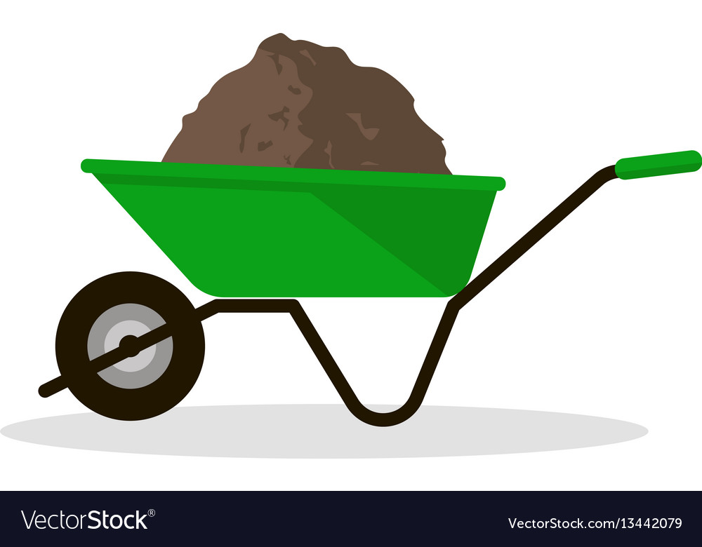Wheelbarrow with organic fertilizer