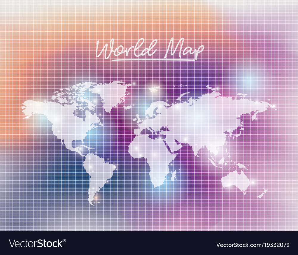 World map in white color and grid background vector image gumiabroncs