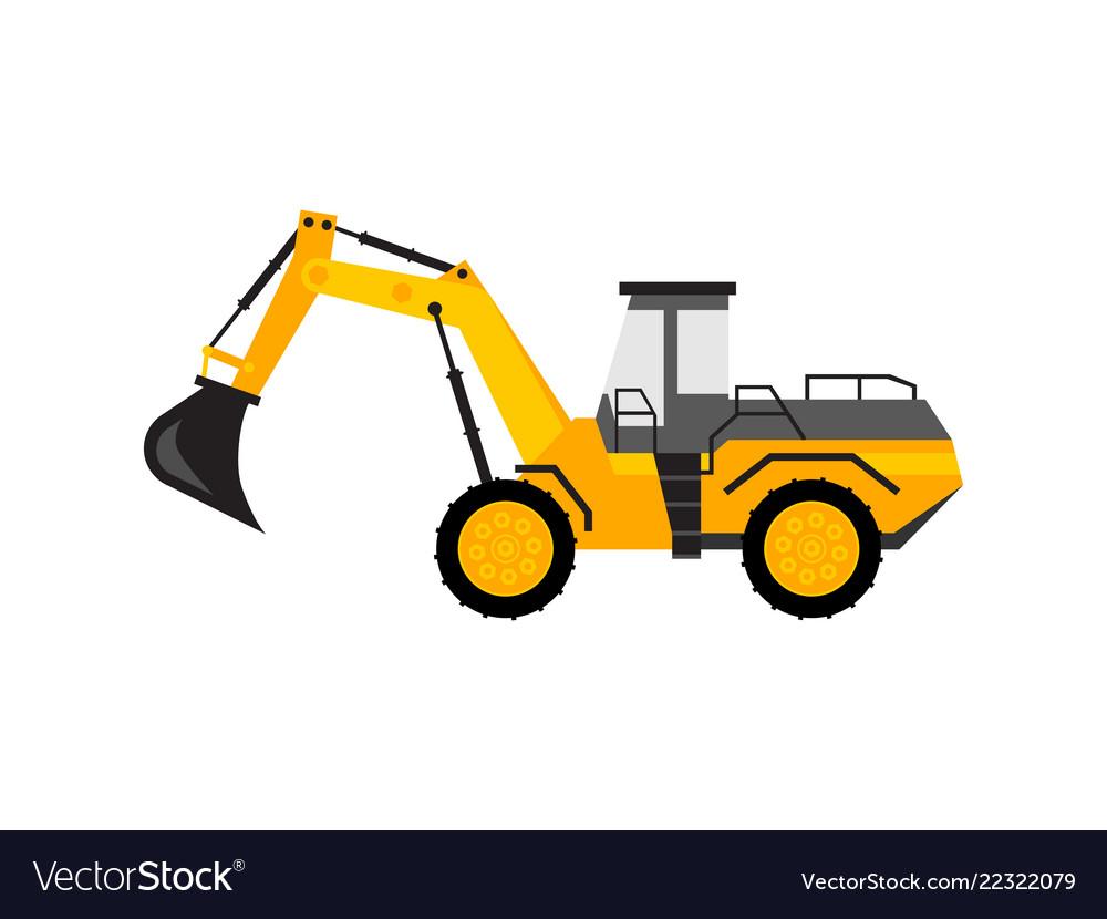 Yellow excavator toy