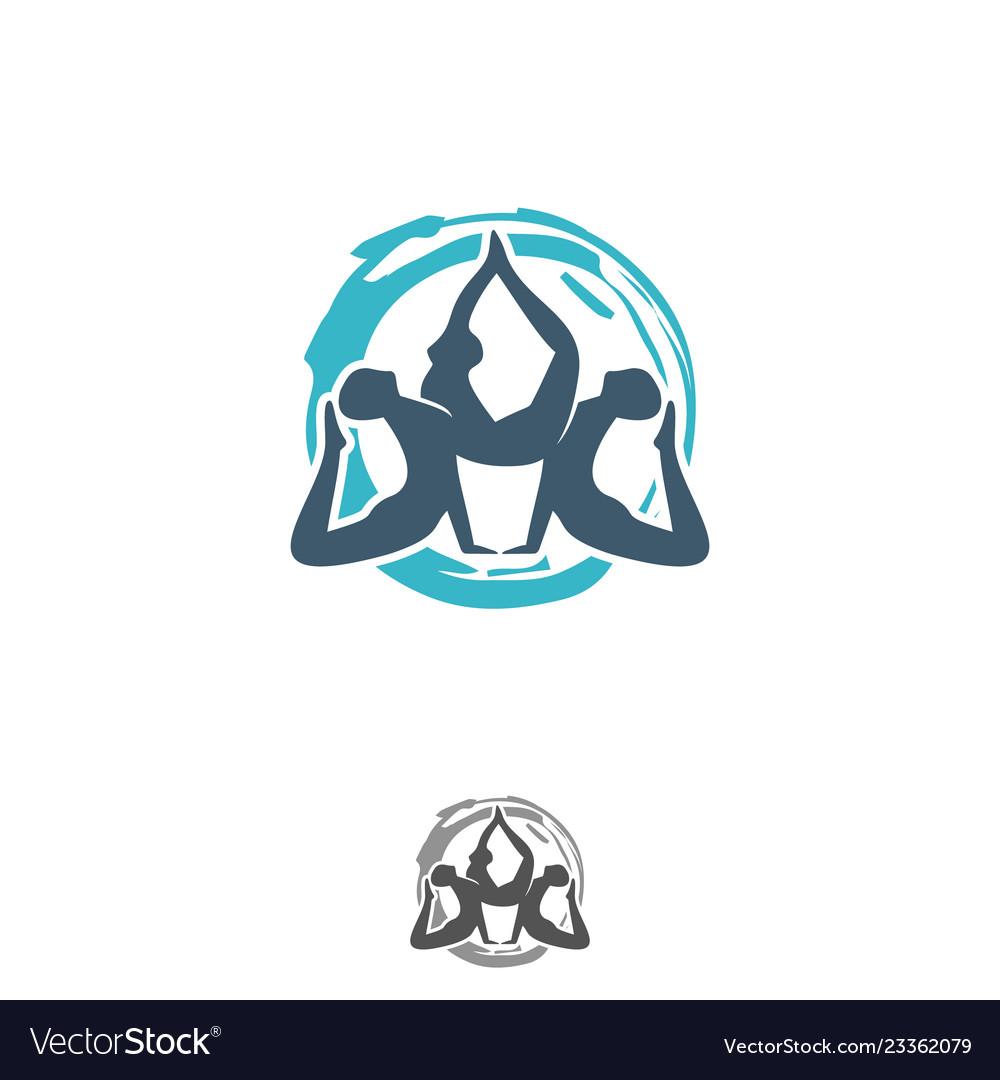 Yoga design symbol