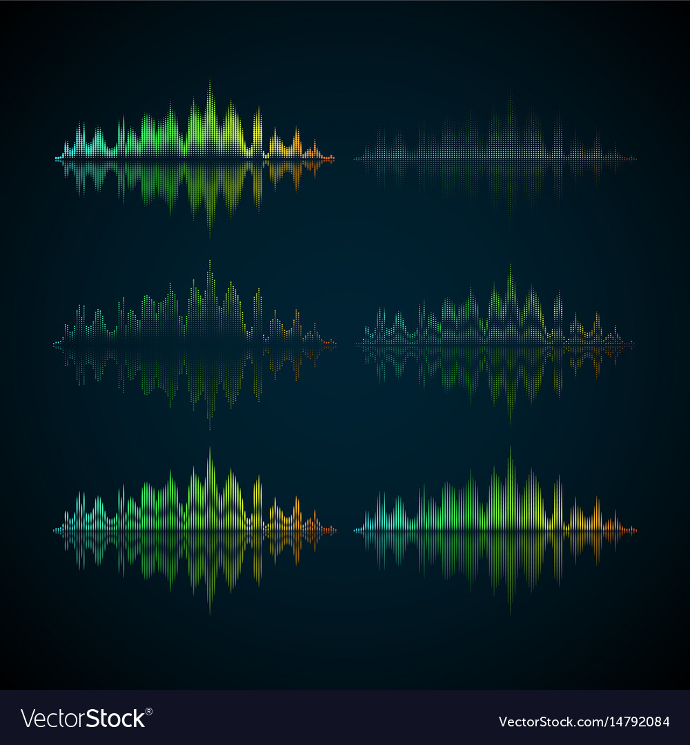 A set of musical waves in the form of equalizer