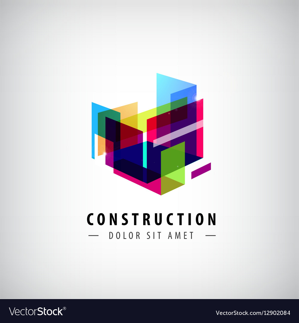 Abstract geometric construction structure