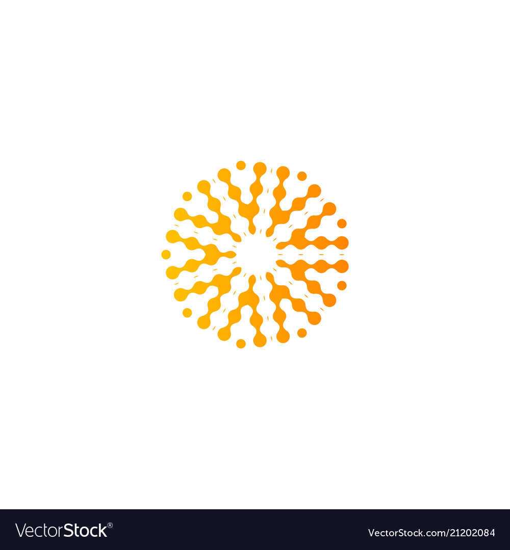 Abstract sun logo orange color icon isolated