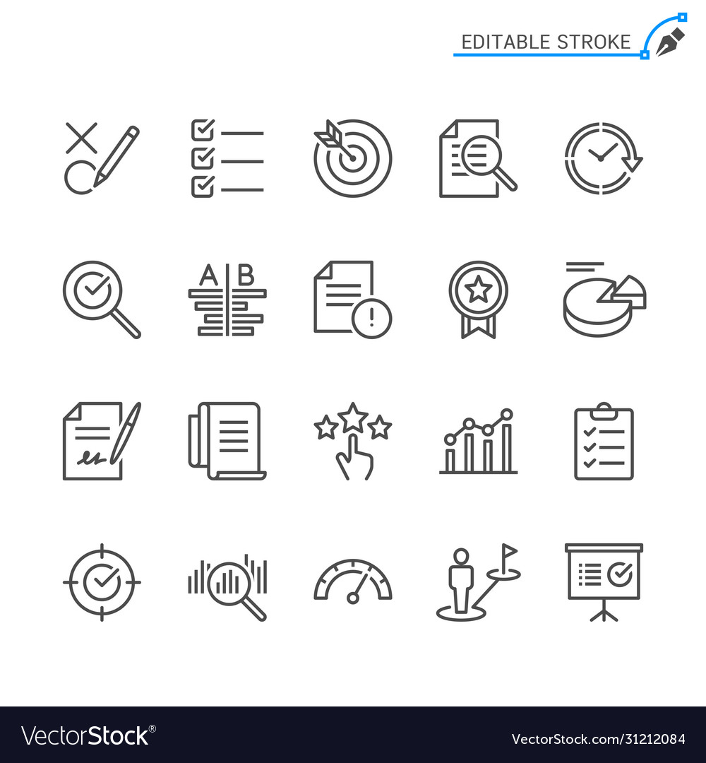 Assessment line icons