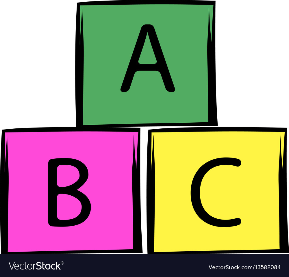 Baby cubes icon cartoon vector image