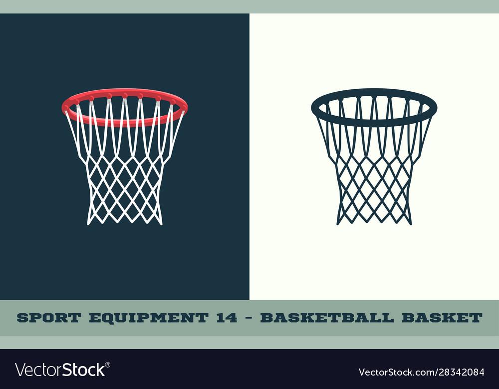 Basketball basket icon game equipment