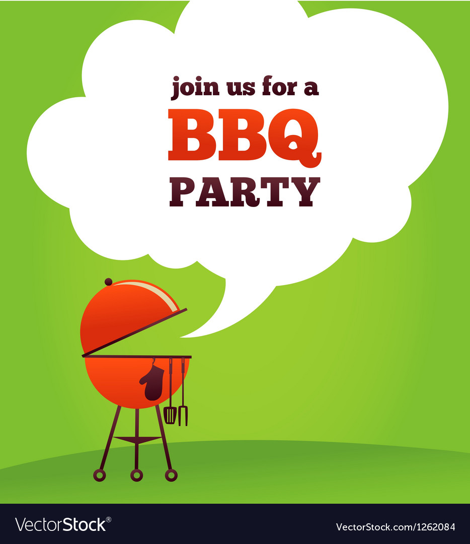 Bbq party invitation royalty free vector image bbq party invitation vector image stopboris Images