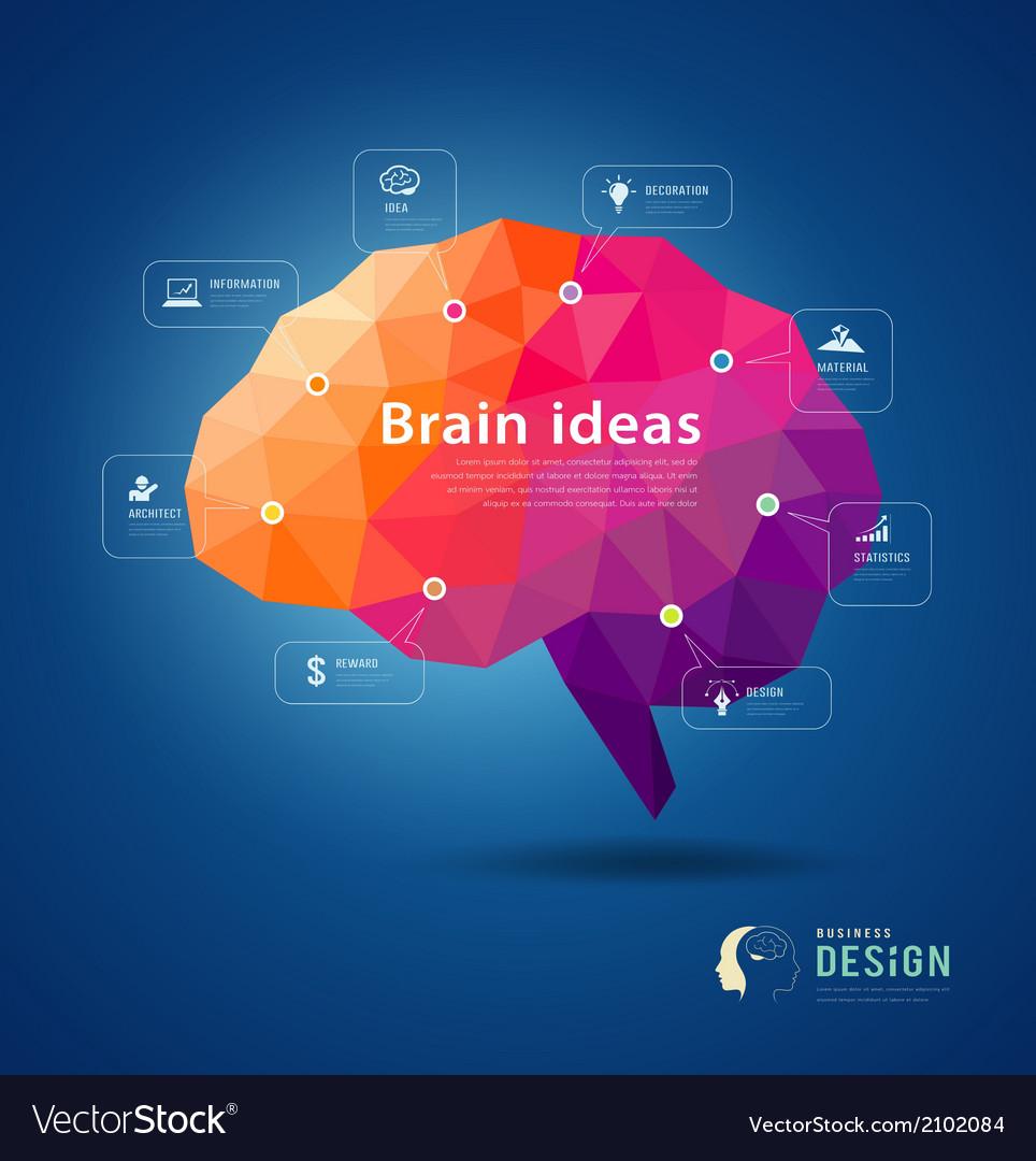 Brain idea geometric info graphics design
