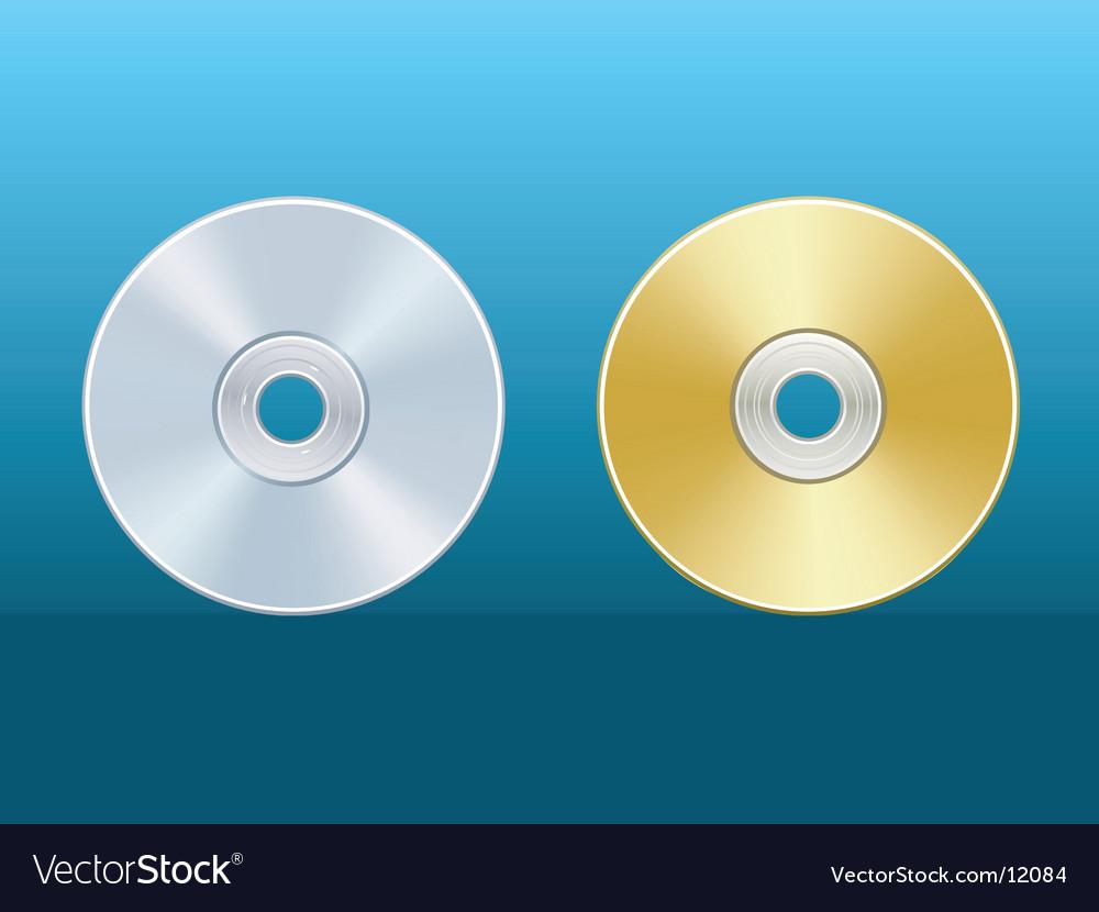 Cd dvd vector image