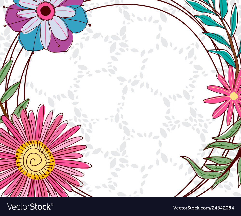 Hand Drawing Background Floral Elements Royalty Free Vector