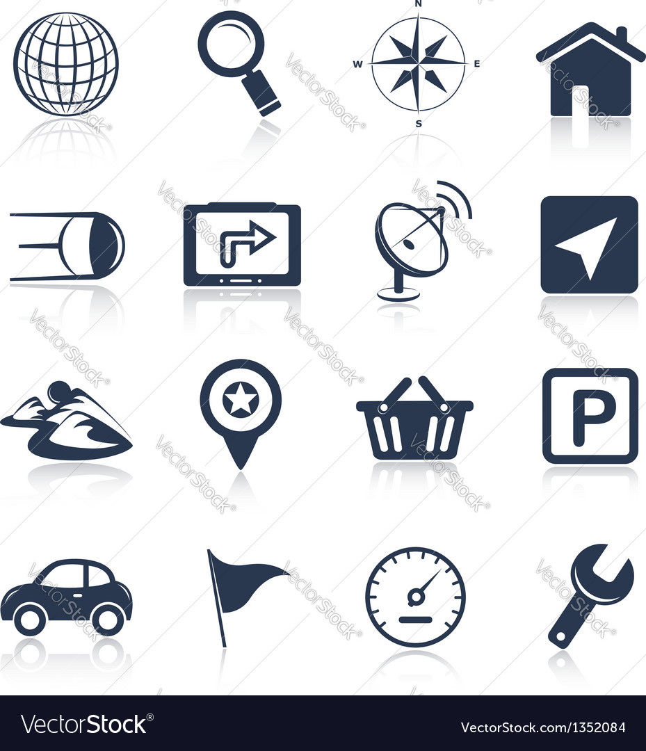 Navigation apps icons