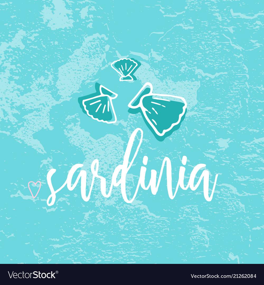 Sardinia hand drawn
