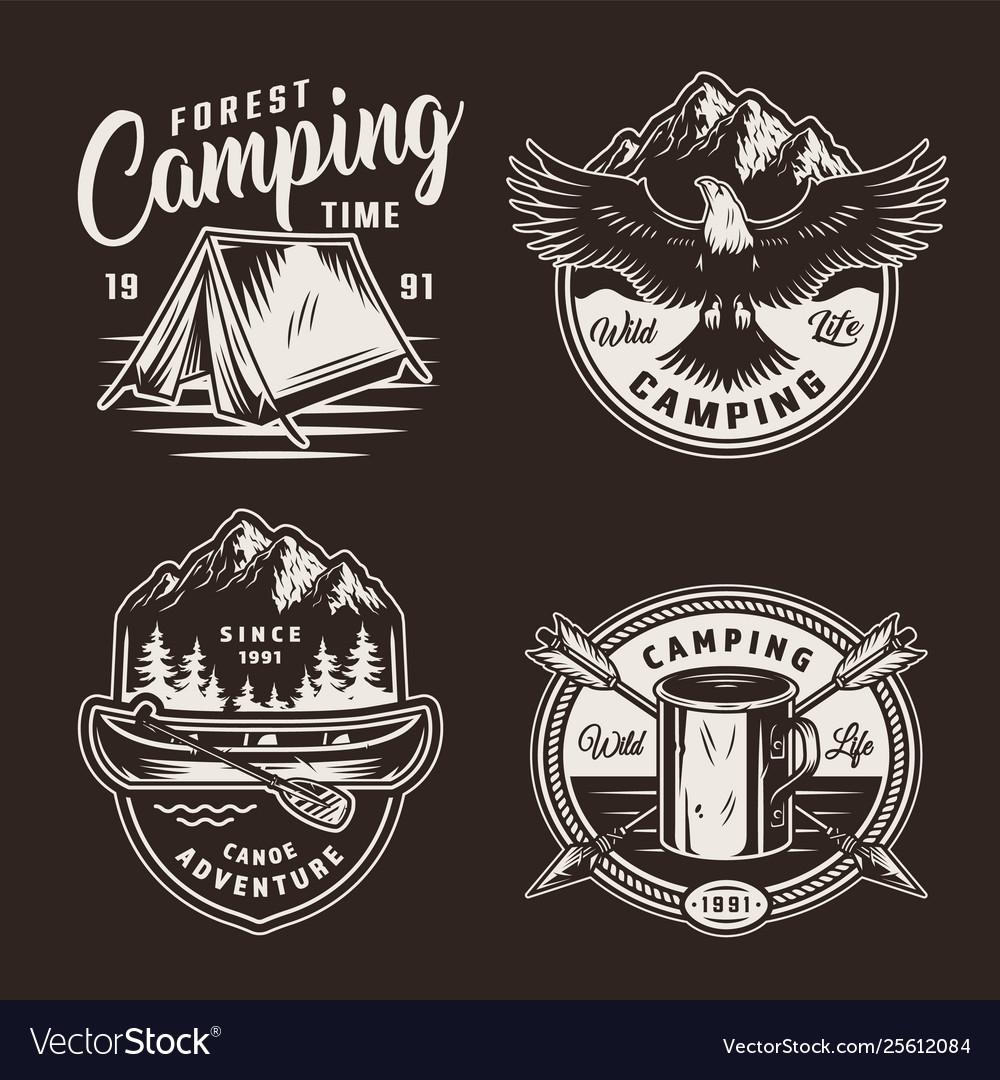 Vintage summer adventure badges