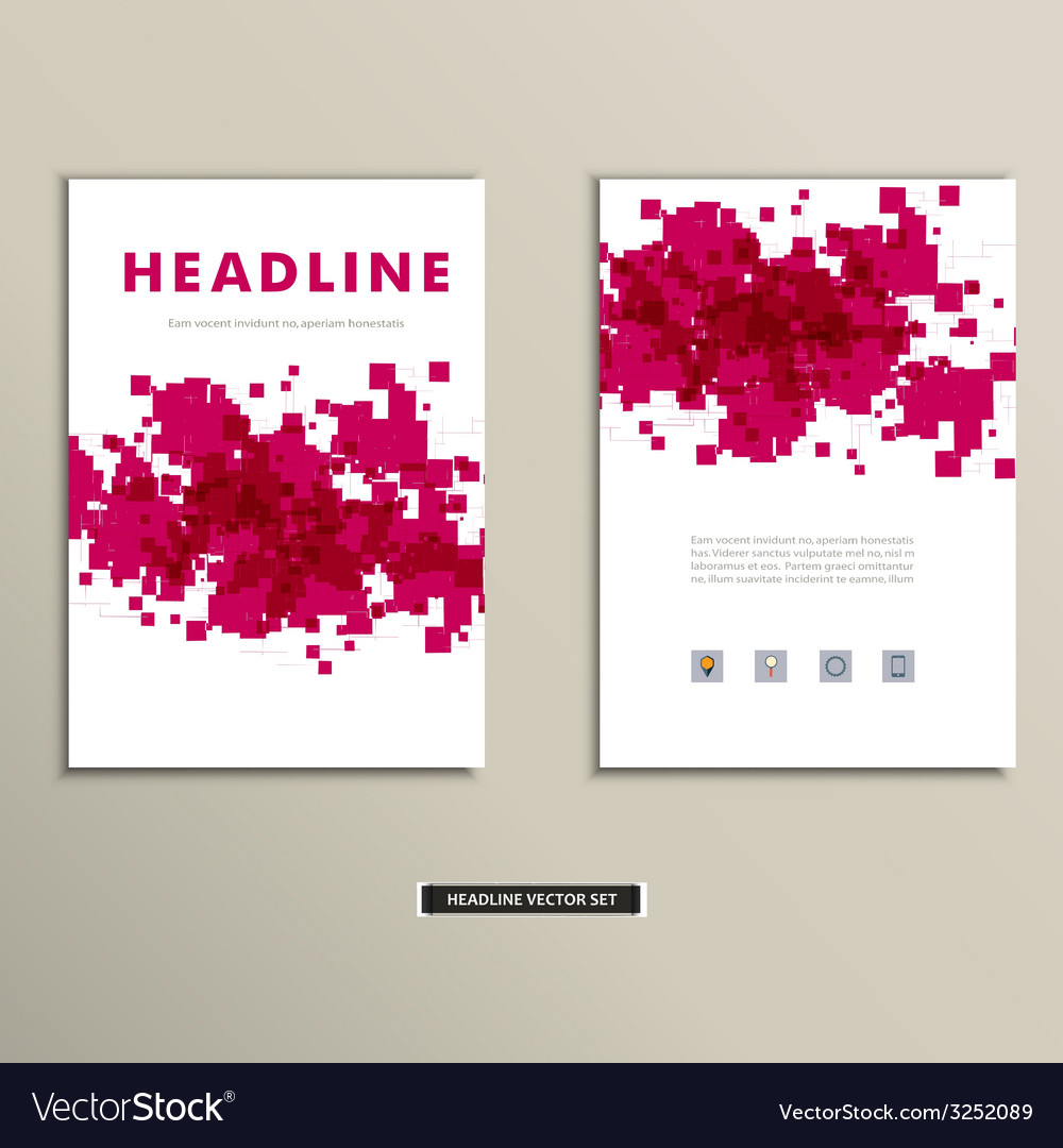 Cover book with colorful abstract spots