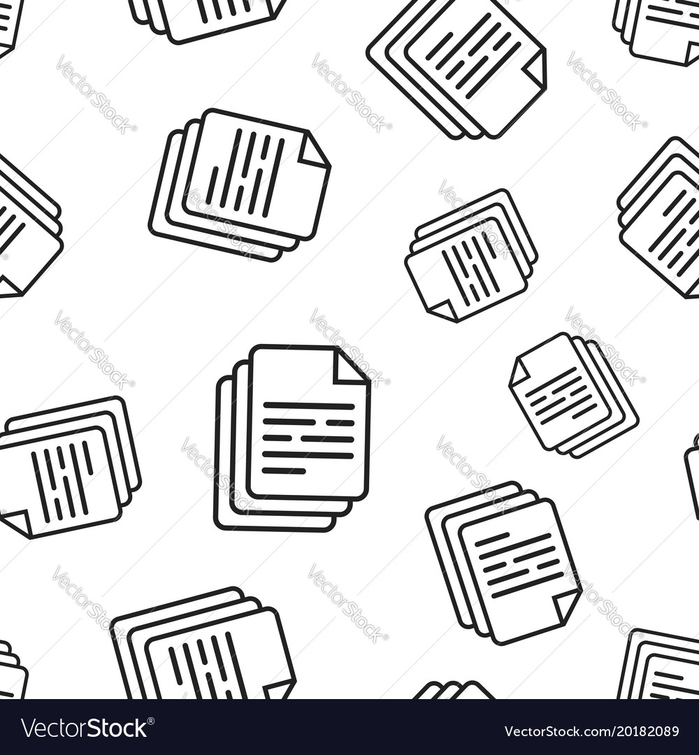 Document seamless pattern background business