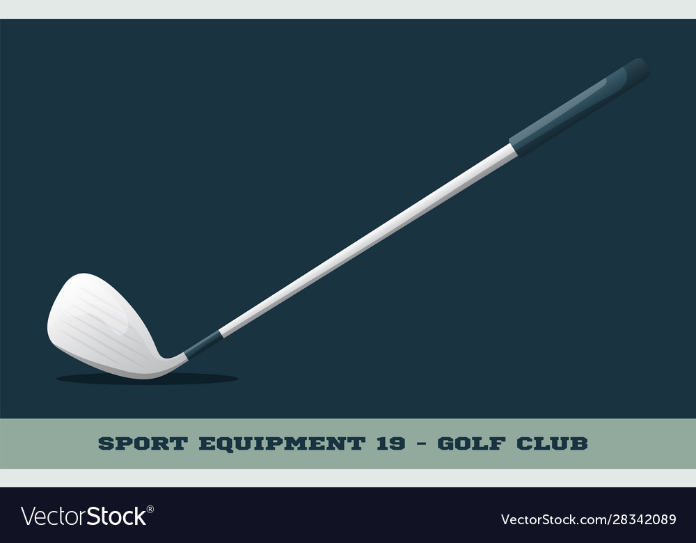 Golf club icon game equipment professional sport
