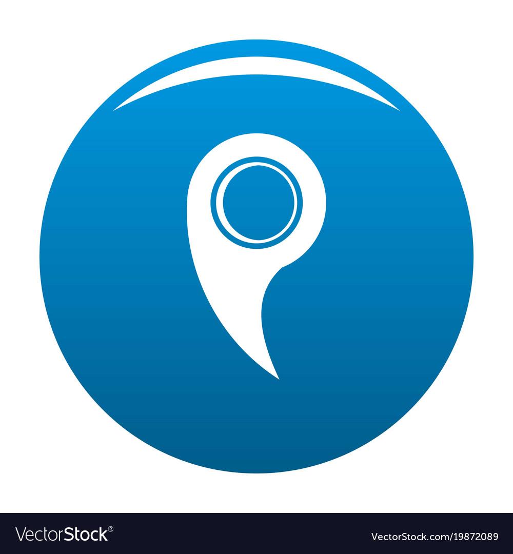 Gps mark icon blue