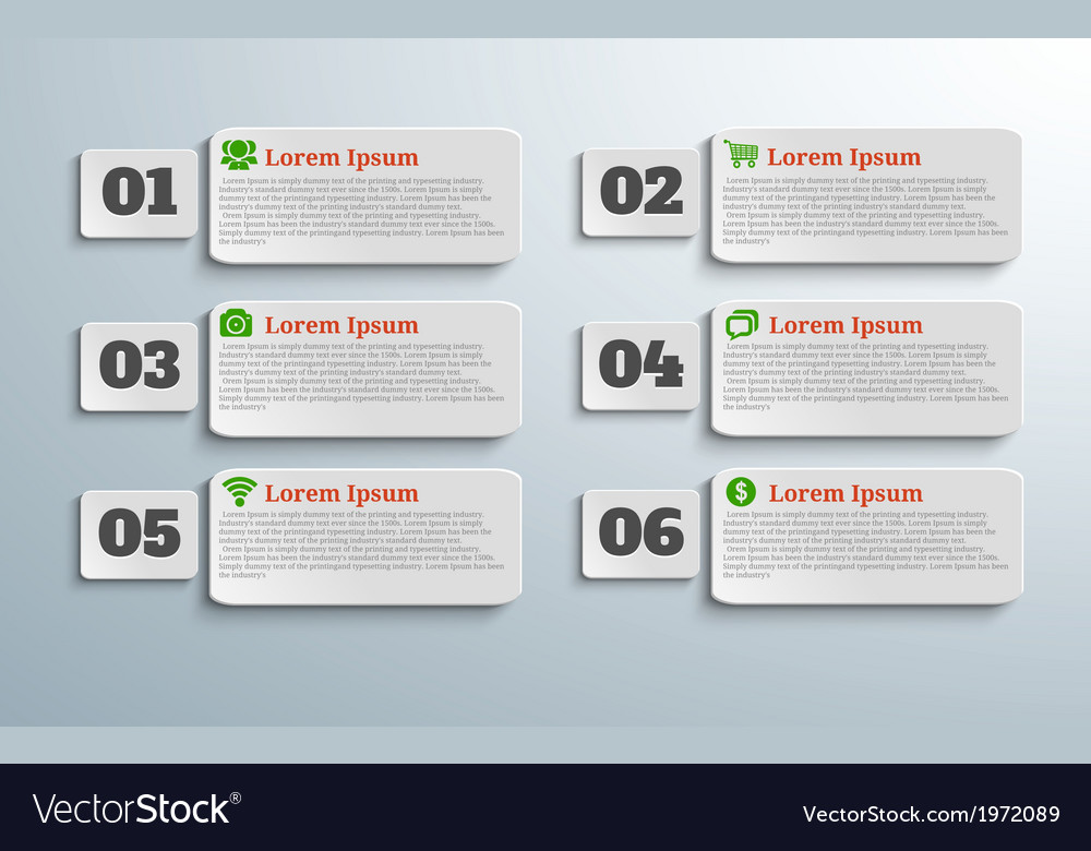 Infographic banners with icons and number